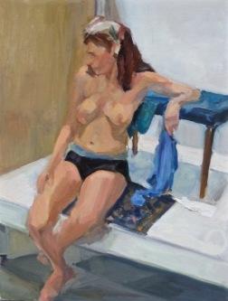 "oil on canvas, 12"" x 16"""
