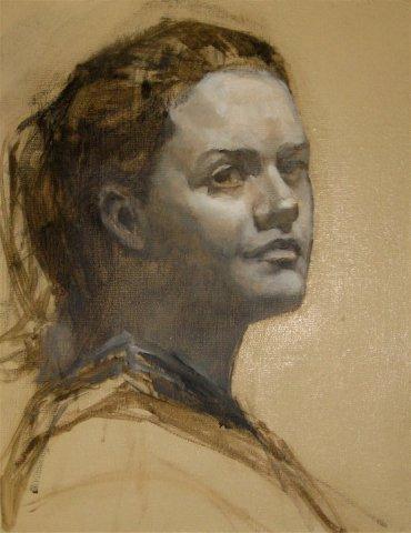 "oil on canvas, 8""x10"""